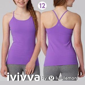 Ivivva by Lululemon Power Purple Tumblin' Tank
